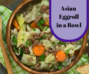 Asian Eggroll in a bowl