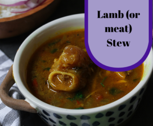 Lamb (or meat) stew